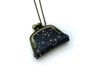Star Coin Purse Necklace, Starry Necklace,