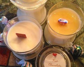 HOT CHOCOLATE ~ Soy Wooden Wick Candle