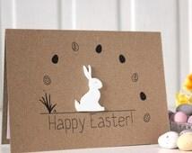 Handmade Easter Card. Easter Bunny Card. Easter Rabbit Card. Easter Bunny. happy easter card. bunny card. Cards for easter.