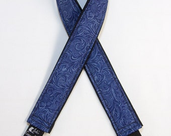 "Tooled Leather-Look Camera Strap Custom Padded DSLR SLR 2"" wide or 1.5"" wide"