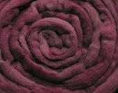 200g Acid Dyed Oatmeal Merino D'Arles Wool Top - Blackberry