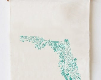 State of Florida Dish Towel, Florida Dish Towel