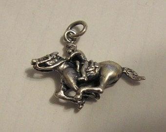 Horse Bracelet Charm, Vintage Sterling Silver, xlnt condition