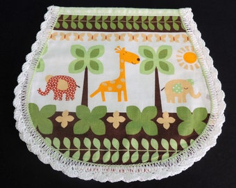 Darling Zoo Animal Baby Burp Cloth is a reusable treat all moms can appricate