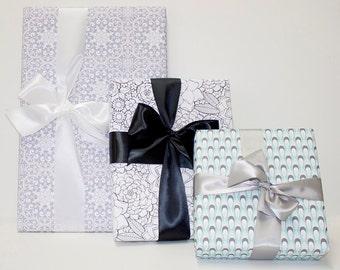 Gift Wrap / Set of 3 Large Gift Wrap Sheets / Wedding Gift Wrap / Diane Kappa