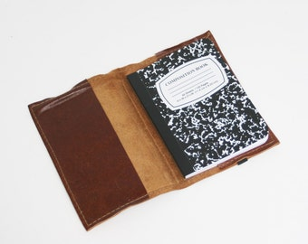 Brown Leather Refillable Notebook by Binding Bee