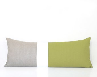 linden green pillows colorblock pillow cover lumbar pillow bedding decorative pillows by