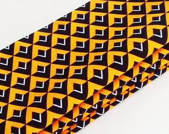 White, Orange & Black Diamond Cotton Napkins / Set of 4 / Halloween, Team, School Colors Eco-Friendly Table Decor / Unique Gift Under 50