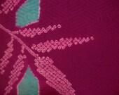 Vintage haori S33, older haori, purple, shibori, tourquoise