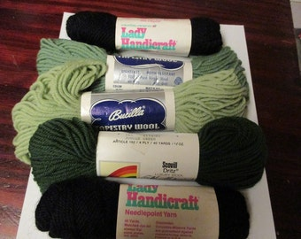 Mixed Lot of 4 Skeins of Tapestry Wool Needlepoint Yarn