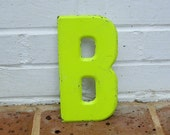 Vintage Metal Sign Metal Letter B Sign Chippy Painted Letter B Sign Old Rusty Letter B Antique Marquee Letter B