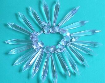 Vintage Chandelier Parts Glass Crystal Chandelier Parts Chandelier Prisms Glass Prisms DIY Jewelry