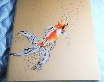 Goldfish OOAK Moleskine Blank Journal