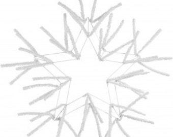 Star Work Wreath-WHITE