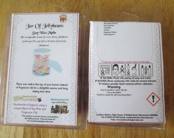Jar of Jellybeans Scented Soy Wax Melts Pack