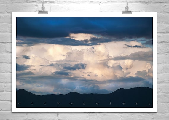 Cloud Art, Indigo Art Print, Sky Art, Storm Photograph, Nature Photography, Blue Art, Murray Bolesta, Thunderstorms, Cloud Print