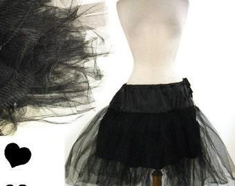 NEW Black Crinoline 50s Vintage Style Retro Swing Dress Petticoat CRINOLINE S M L Xl 1X 2X 3X Rockabilly Tulle