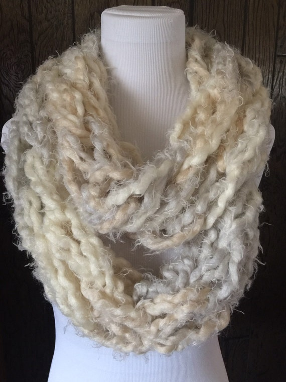 Arm Knitted Infinity Circular Scarf Ladies Fashion Accessory