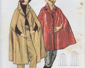 1970s Butterick 5929 Vintage Sewing Pattern Misses Cape and Pants Size 12 Bust 34