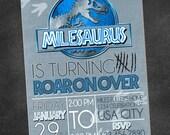 Jurassic World Park Birthday Party Invitation (printable digital file)