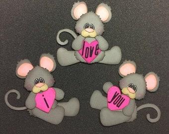 Valentine paper embellishment, mouse