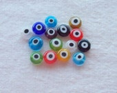 Glass Evil Eye Bead Assortment - 7 x 3 mm beads - Sets of 30
