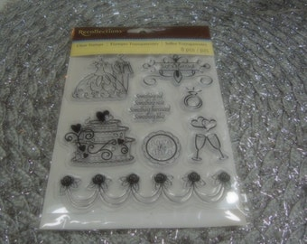 Just Married from Recollections set of Clear Unmounted Stamps - 8 pieces