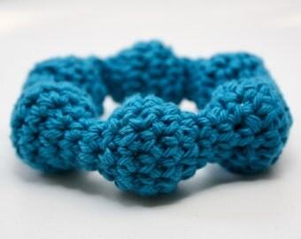 Blue, Circular Baby Rattle, Teething Ring