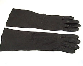 Vintage Brown Leather Gloves
