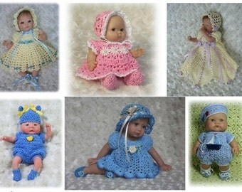 7 Crochet Patterns for Baby Dolls and OOAK Sculpt Miniatures   FULL COLLECTION