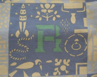 FOUND IN SPAIN -- alphabet tablecloth - heavy cotton