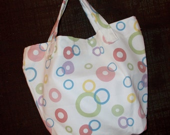 Bag/Purse-13 x 9 inch-the Little Sis Bag with Polka Dots on White
