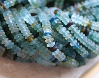 ANCIENT ROMAN GLASS No. 161 .. Genuine Antique Roman Glass Rondelle Beads (rg-161)