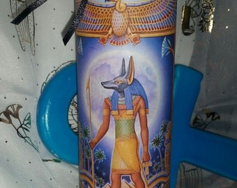 Egyptian God ANUBIS Justice Ritual Meditation Black Candle Wicca Witch Pagan Altar Spell Magick