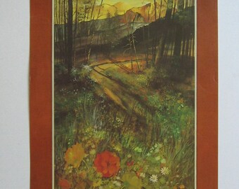 Gary Jenkins Print Early 70's Jenkins Country Scene