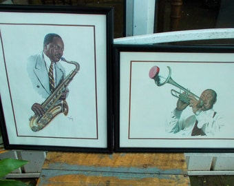 Tom Mckinney Jazz Musician Signed Lithograph / Saxaphone Player Trumpet Player / New Orleans Jazz