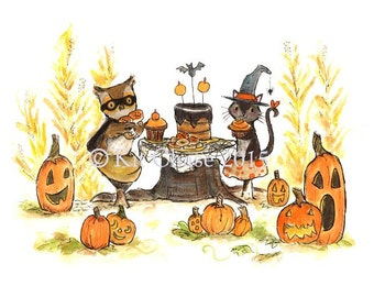 Halloween Art -- Halloween Party -- Art Print