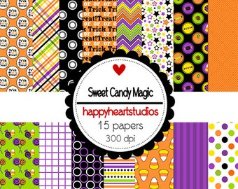 Digital Scrapbook  Sweet Candy Magic- INSTANT DOWNLOAD