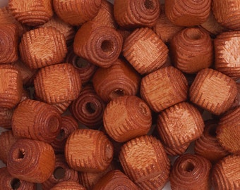 100 Pieces Wood Beads - Square - Cube - Light Brown 9mm (100201)