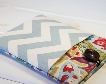 Pocket iPad Case|iPad Mini Case|iPad Air Sleeve|ipad Pro Case|Tablet Sleeve|Tablet Covers| FIT ANY BRAND tablet|in Garden Path and Chevron