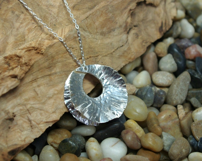 Fine Silver Fold Form Necklace Pendant