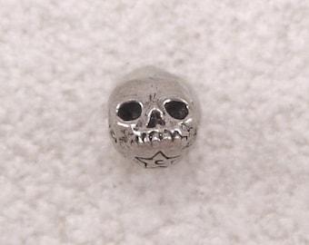 Green Girl Studios Mini Skull Pewter Bead