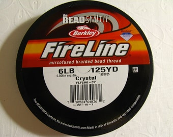 Fireline Braided Beading Thread, Crystal,  6LB Test, 125 YD spool