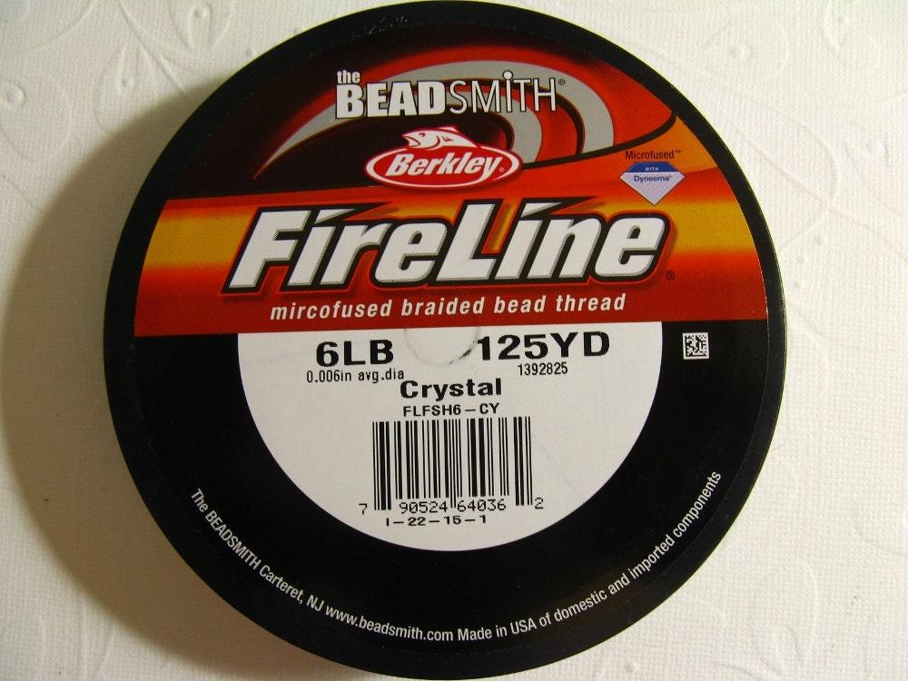 fireline braided beading thread 6lb test 125 yd
