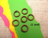 11.3mm Large Rope Jumprings from Nunn Design in Antique Copper  - 6 count