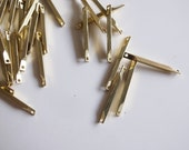 50 pieces of vintage raw brass connector bar link 20x1.5mm make your own chain