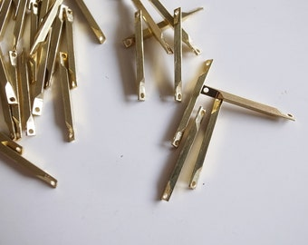 14.4g 50 pieces of vintage raw brass connector bar link 20x1.5mm make your own chain
