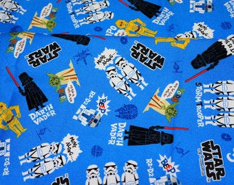 Lucasfilm licensed fabric Special price Star Wars Fabric  50 cm by 106  cm or 19.6 by 42 inches