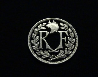 FRANCE - cut coin pendant - Republique Francaise RF - 1938