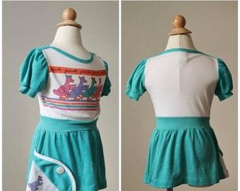 ON SALE 1980s Quack Quack Dress >>> Size 3t